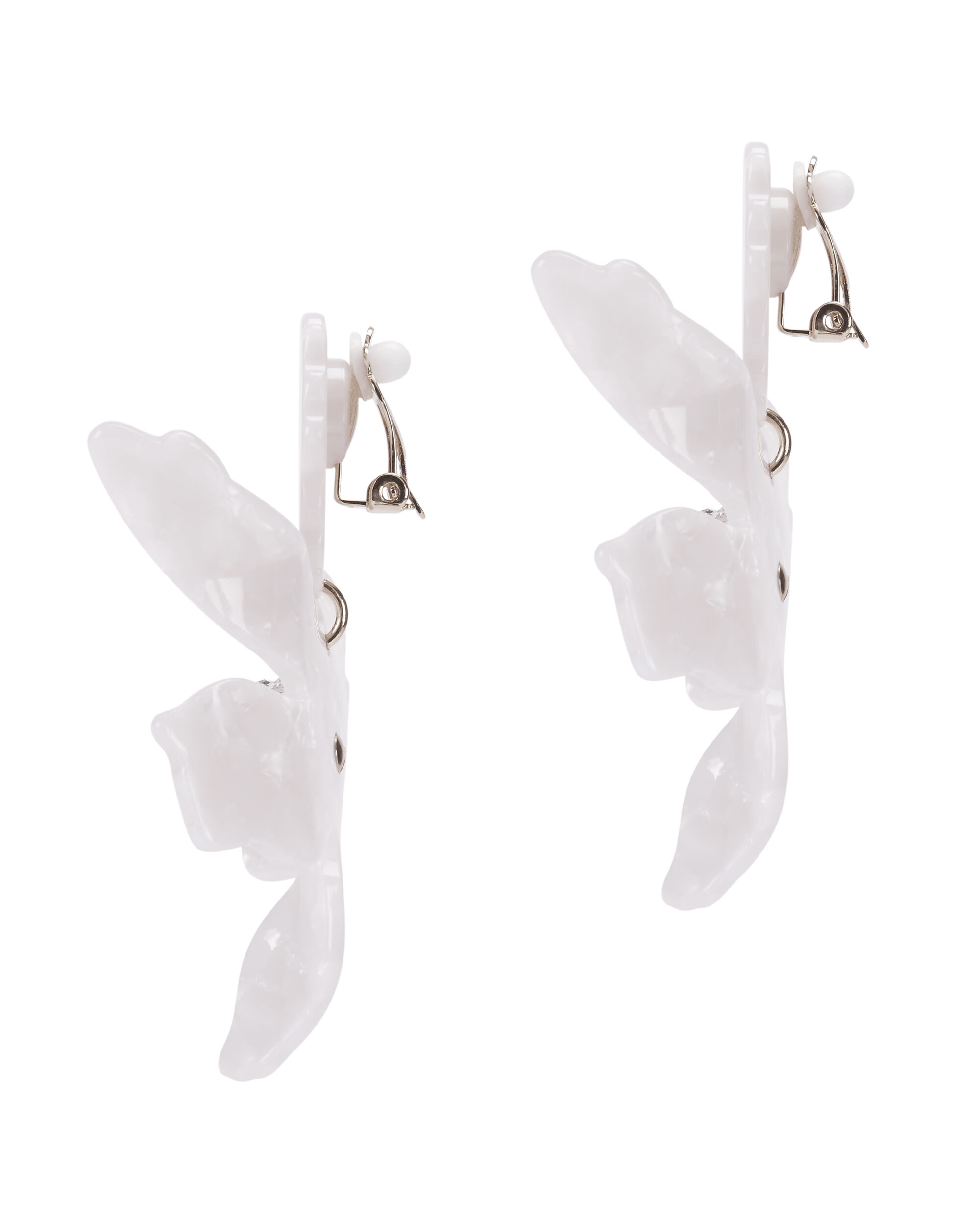 Crystal Lily Ivory Earrings, IVORY, hi-res