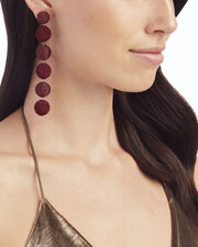 Red Silk And Metallic Gumball Drop Earrings, RED, hi-res