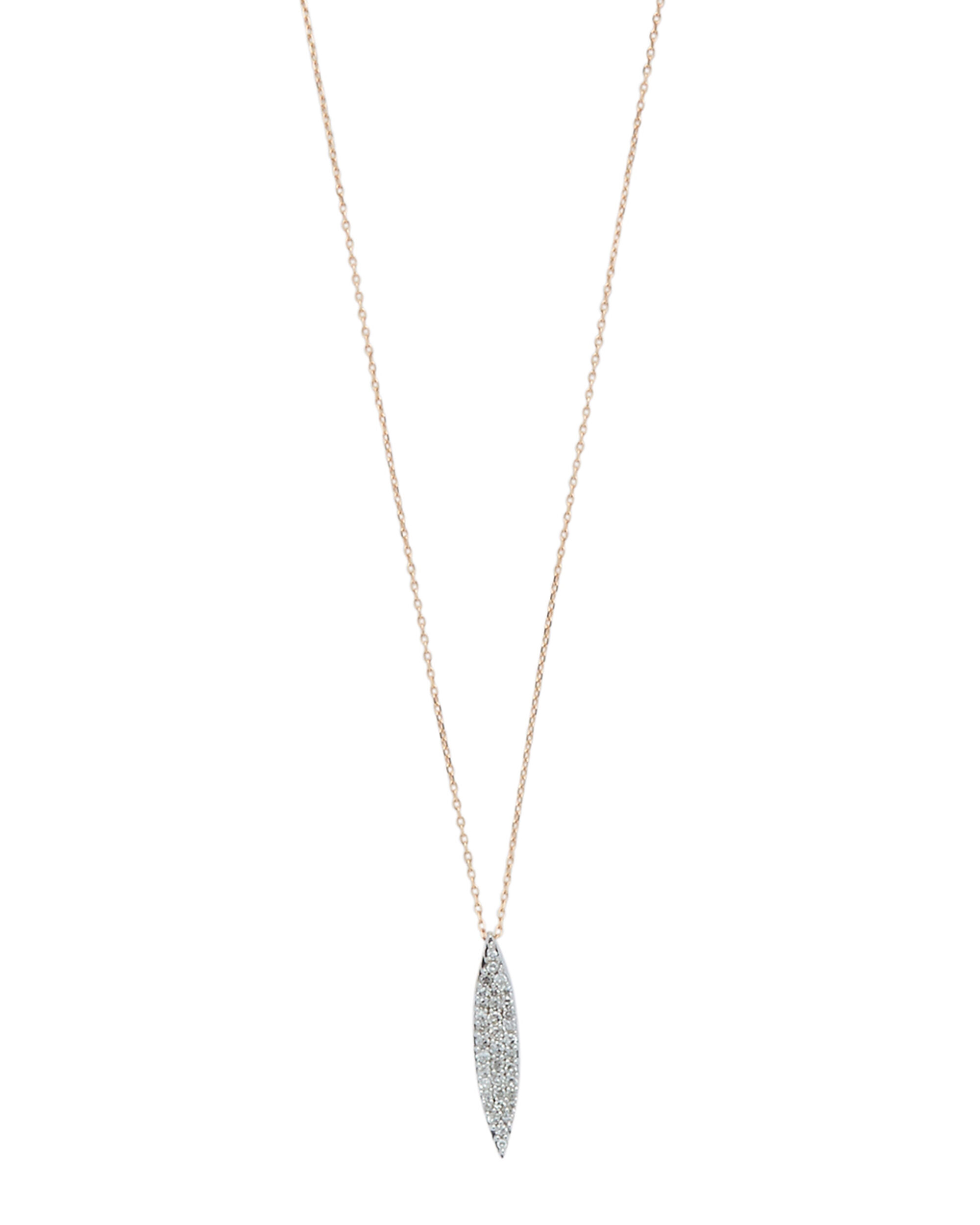 Small Pavé Marquise Necklace, METALLIC, hi-res