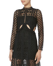 Payne Cutout Lace Midi Dress, BLACK, hi-res
