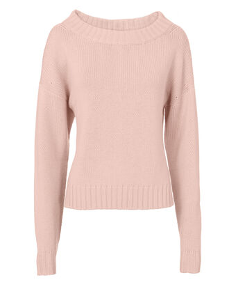 Pink Cropped Sweater, PINK, hi-res