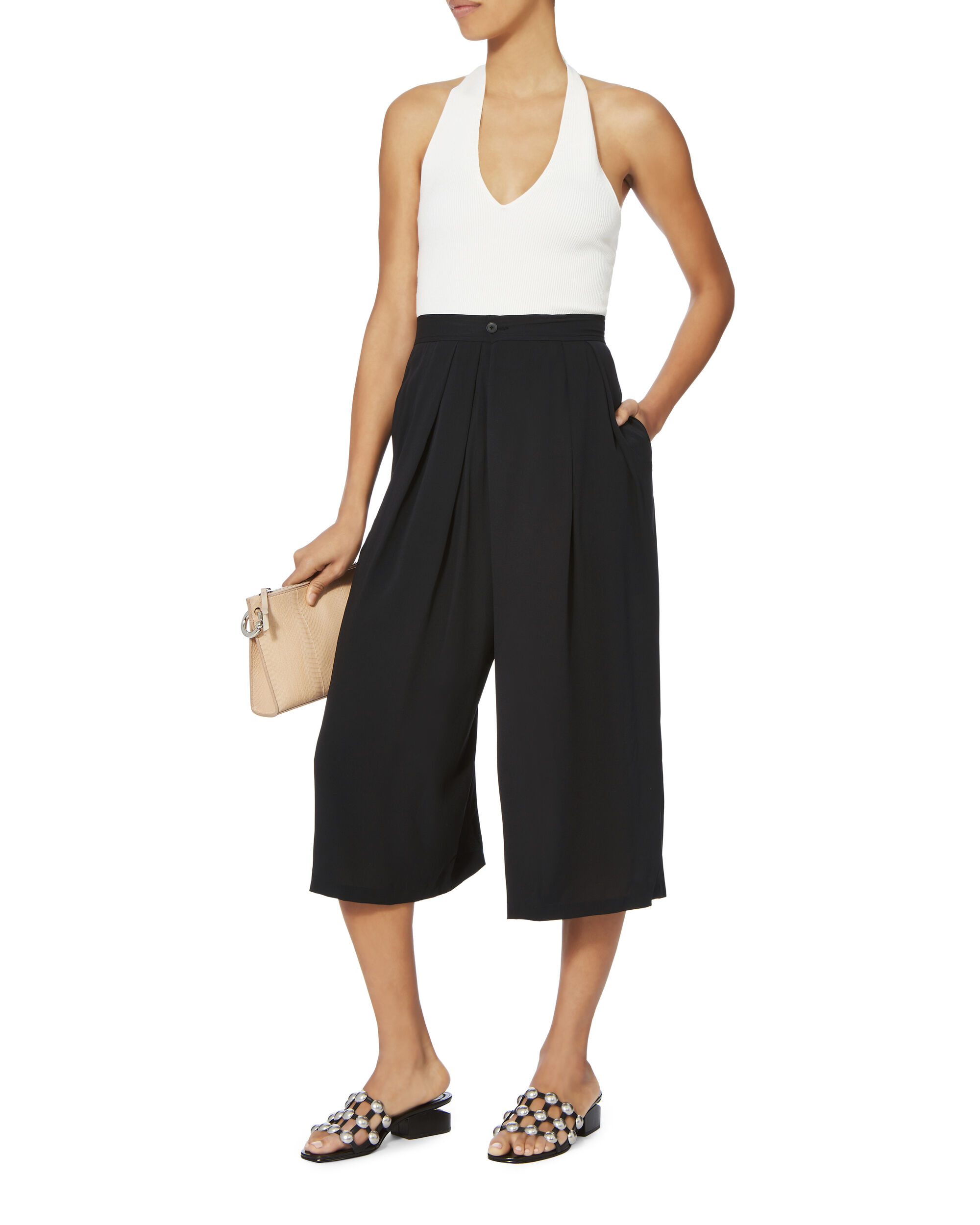 Crossover Pull On Pants, BLACK, hi-res