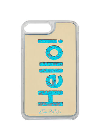 Blue Floating Hello iPhone 6 or 7 Plus Case, METALLIC, hi-res