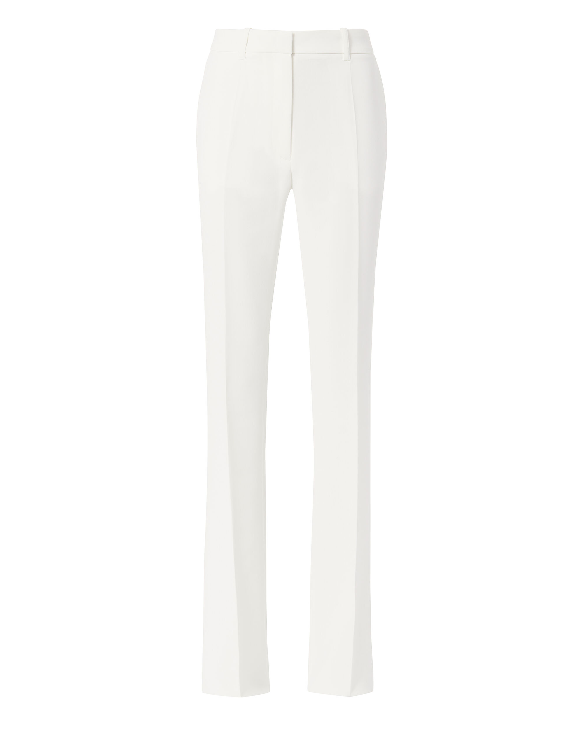 White High-Rise Flare Pants, WHITE, hi-res