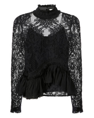 Karenza Lace Top, BLACK, hi-res