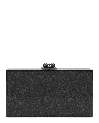 Jean Black Sparkle Clutch, BLACK, hi-res