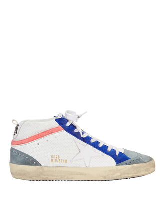 Star Tennis Leather Sneakers, WHITE, hi-res