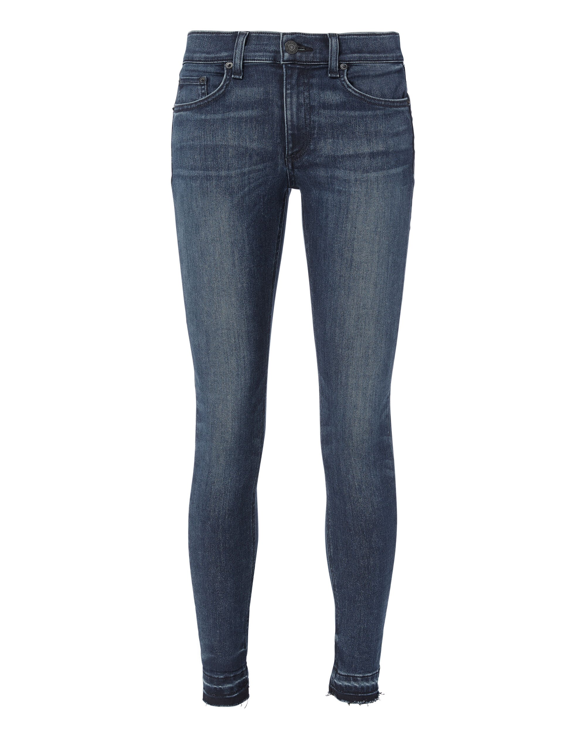 Alembic Two-Tone Hem Jeans, DENIM, hi-res