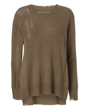 Drop Needle Sweater, OLIVE/ARMY, hi-res