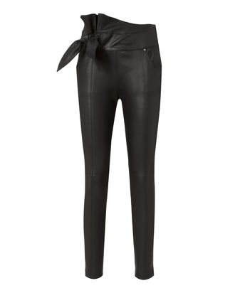 Alpen Leather Skinny Pants, BLACK, hi-res