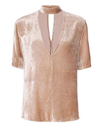 Blaise Velvet Choker Top, BLUSH, hi-res