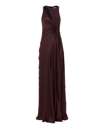 Clemence Cutout Gown, PURPLE, hi-res