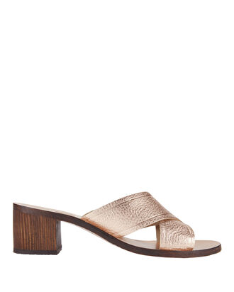 Thais Block Heel Sandals, METALLIC, hi-res