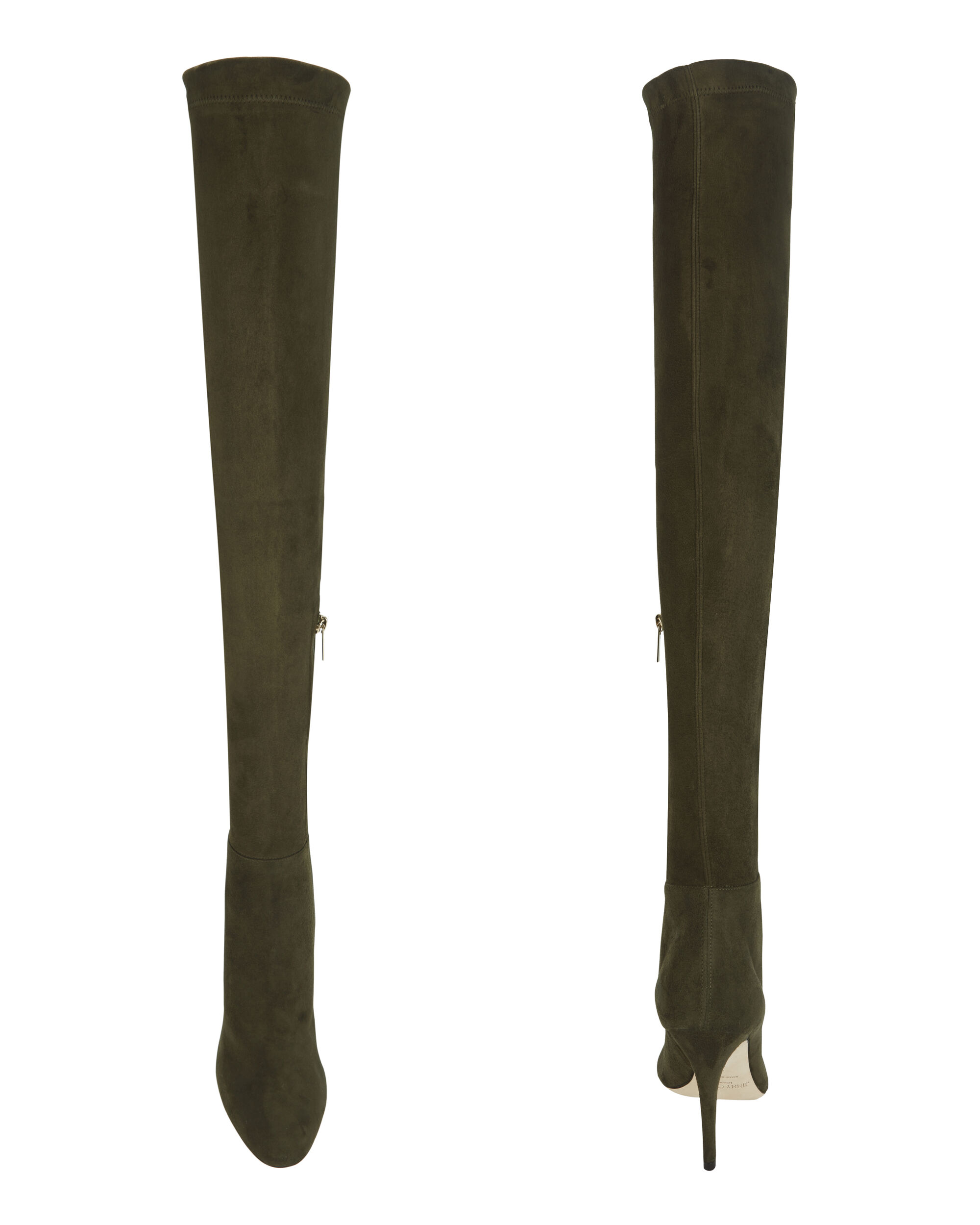 Toni Over-The-Knee Suede Boots, GREEN, hi-res