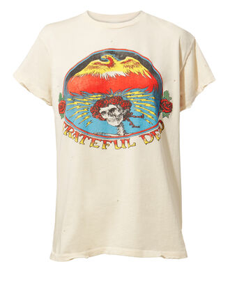 Grateful Dead Distressed T-Shirt, WHITE, hi-res