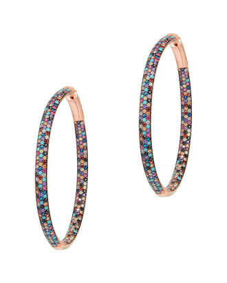 Multi Statement Hoop Earrings, MULTI, hi-res