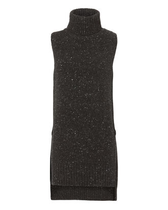 Marled Turtleneck Tunic, CHARCOAL, hi-res