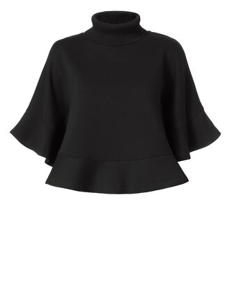 Turtleneck Black Capelet, BLACK, hi-res