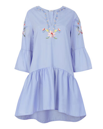 Dory Poplin Dress, BLUE, hi-res