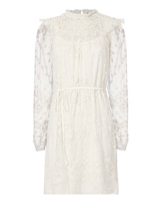 Shadow Lace Dress, IVORY, hi-res