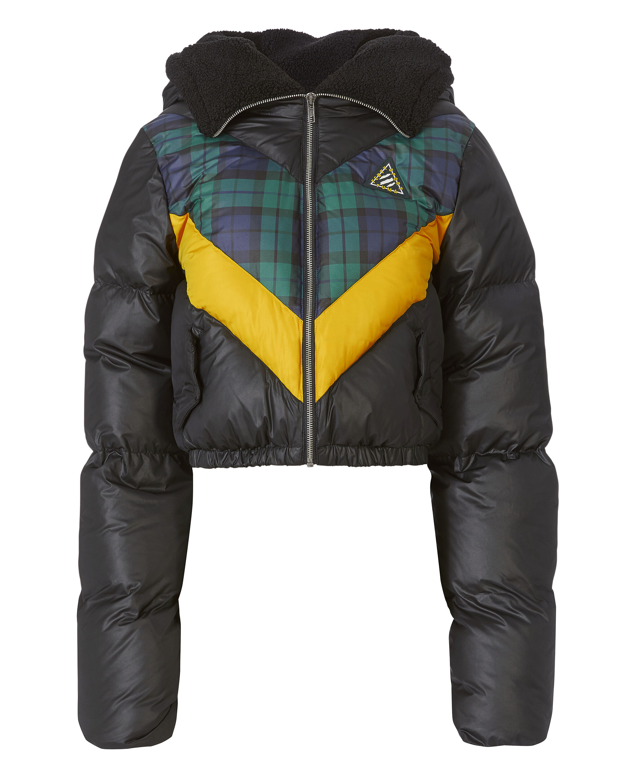Quilted Chevron Puffer Jacket, PATTERN, hi-res