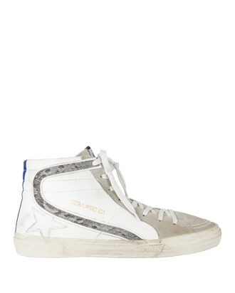 Glitter Stripe High-Top Sneakers, WHITE, hi-res