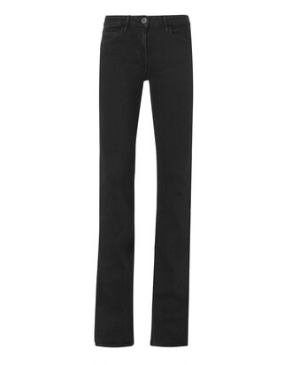 Split Seam Flare Jeans, BLACK, hi-res