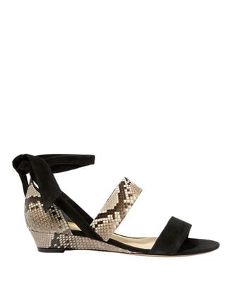 Python Lace-Up Sandals, BLACK, hi-res