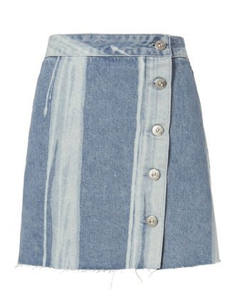 Higher Ground Denim Mini Skirt, DENIM, hi-res
