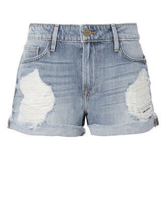 Le Grand Garcon Destroyed Jean Shorts, DENIM, hi-res