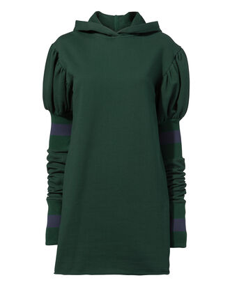Shines In The Dark Hoodie Dress, GREEN, hi-res