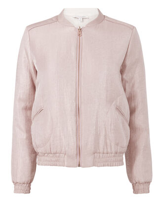 Cassian Shimmer Reversible Bomber Jacket, BLUSH, hi-res