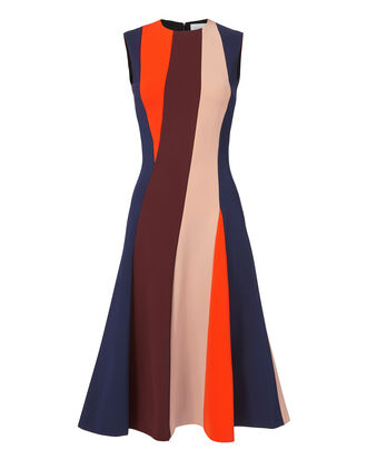 Colorblock Midi Dress, MULTI, hi-res