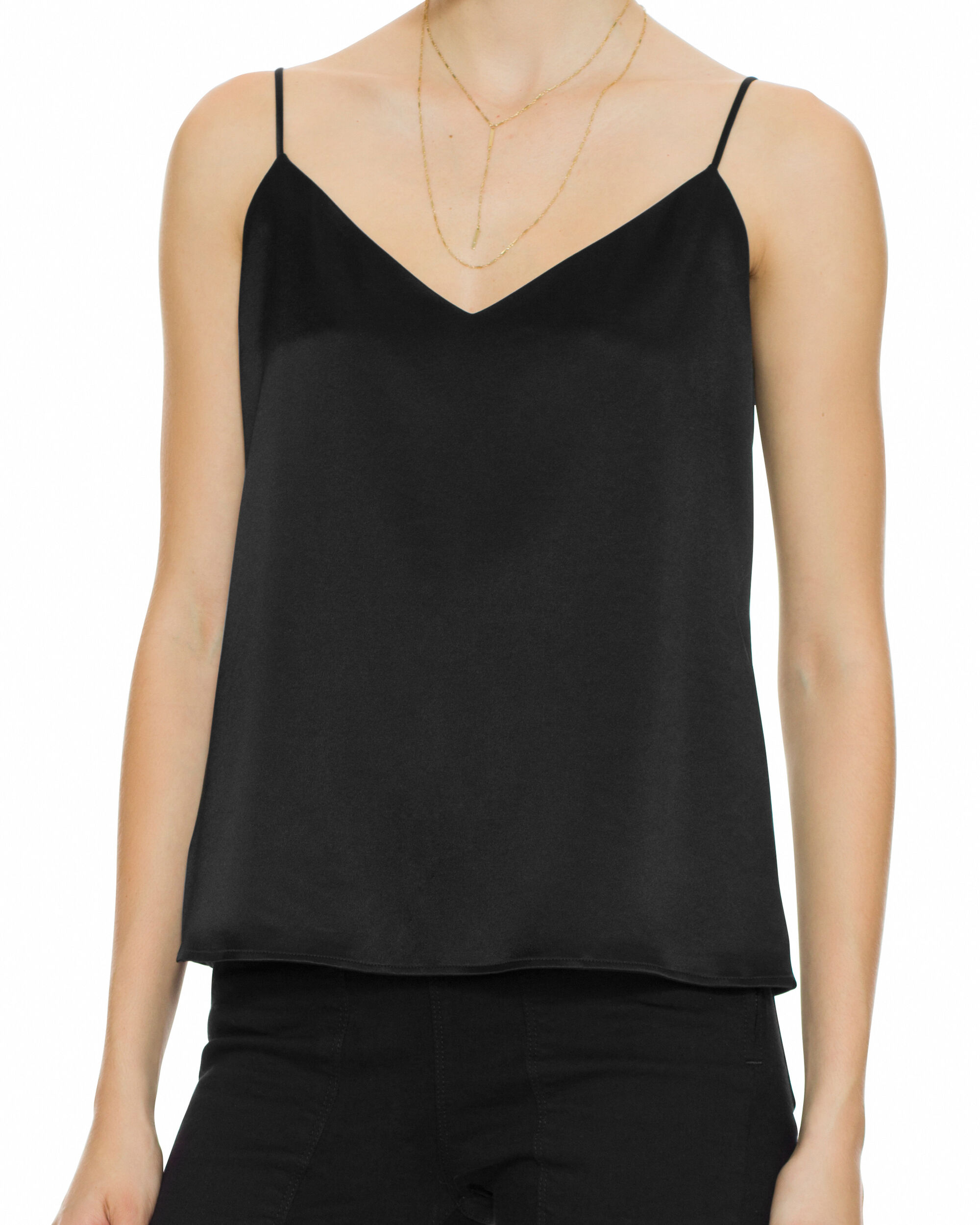 Jane Satin Tank, BLACK, hi-res