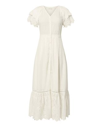 Jodie Ruffle Maxi Dress, IVORY, hi-res