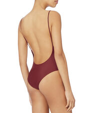 Chain Reaction Scoop Neck One Piece Swimsuit, RED, hi-res