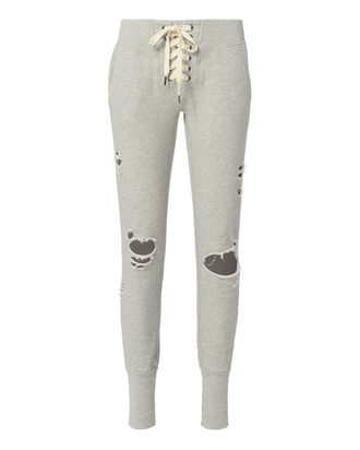 Maddox Lace-Up Sweatpants, GREY, hi-res