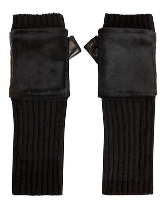 Haircalf Knit Gloves, BLACK, hi-res