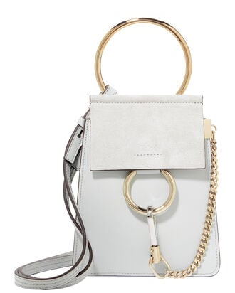 Faye Small Leather Bracelet Grey Bag, GREY, hi-res
