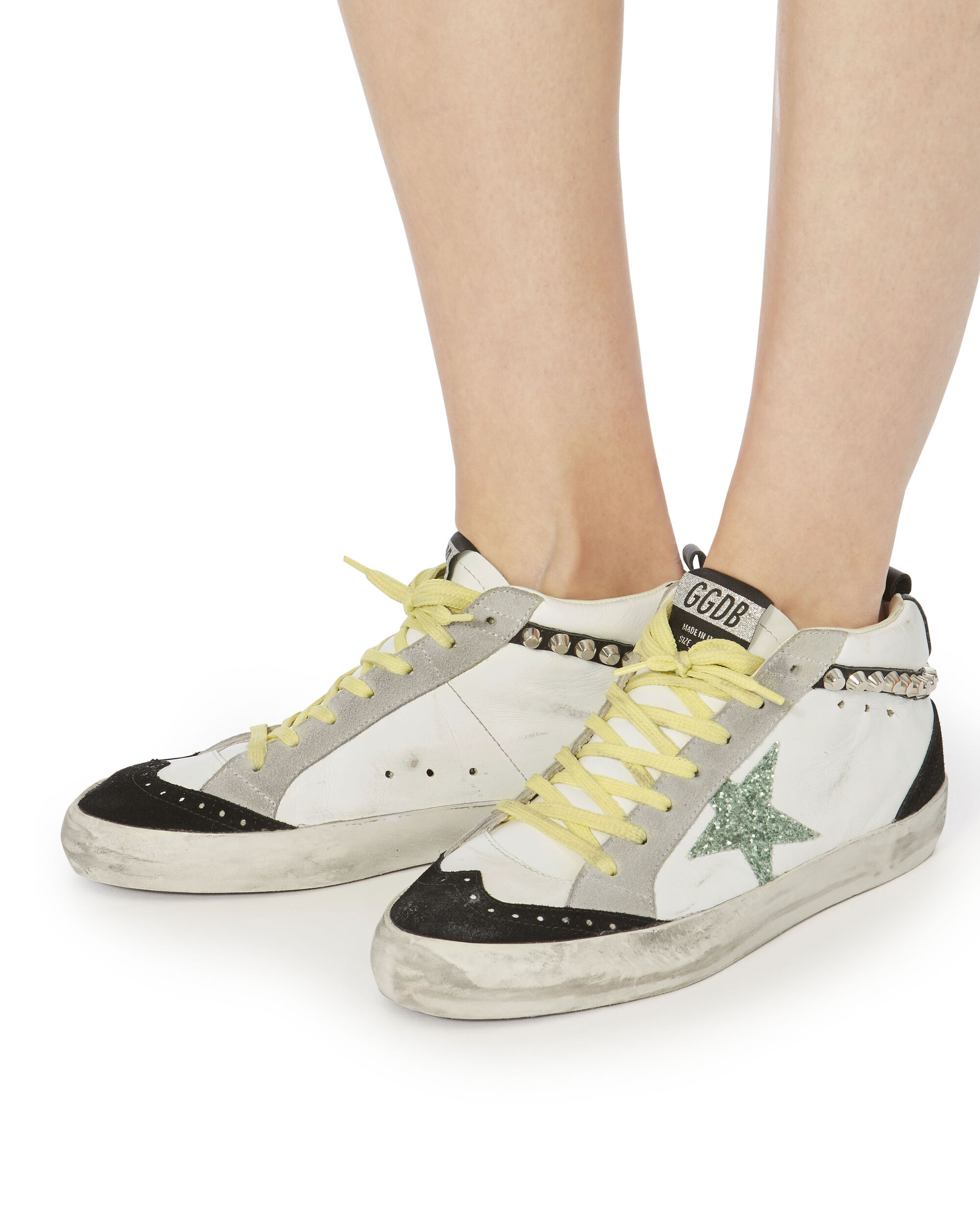 Superstar Studded Mid-Top Sneakers, WHITE, hi-res