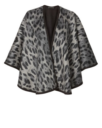 Grey Leopard Reversible Cape, PRI-ANIMAL, hi-res