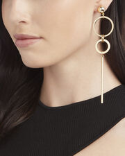 Circle Stick Linear Earring, METALLIC, hi-res