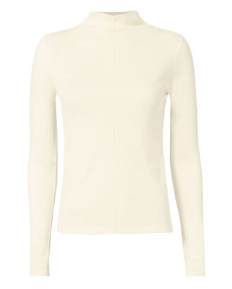 Lorrie Mock Neck Top, IVORY, hi-res