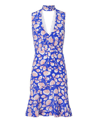 Fleur Mini Dress, BLUE, hi-res