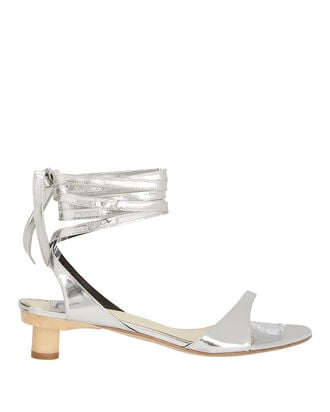 Scott Metallic Wrap Sandals, SILVER, hi-res