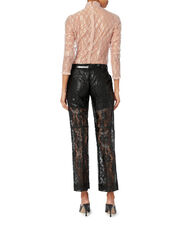 Lace Flared Cropped Pants, BLACK, hi-res
