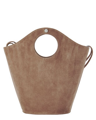 Market Small Suede Shopper Tote Bag, BLUSH/NUDE, hi-res