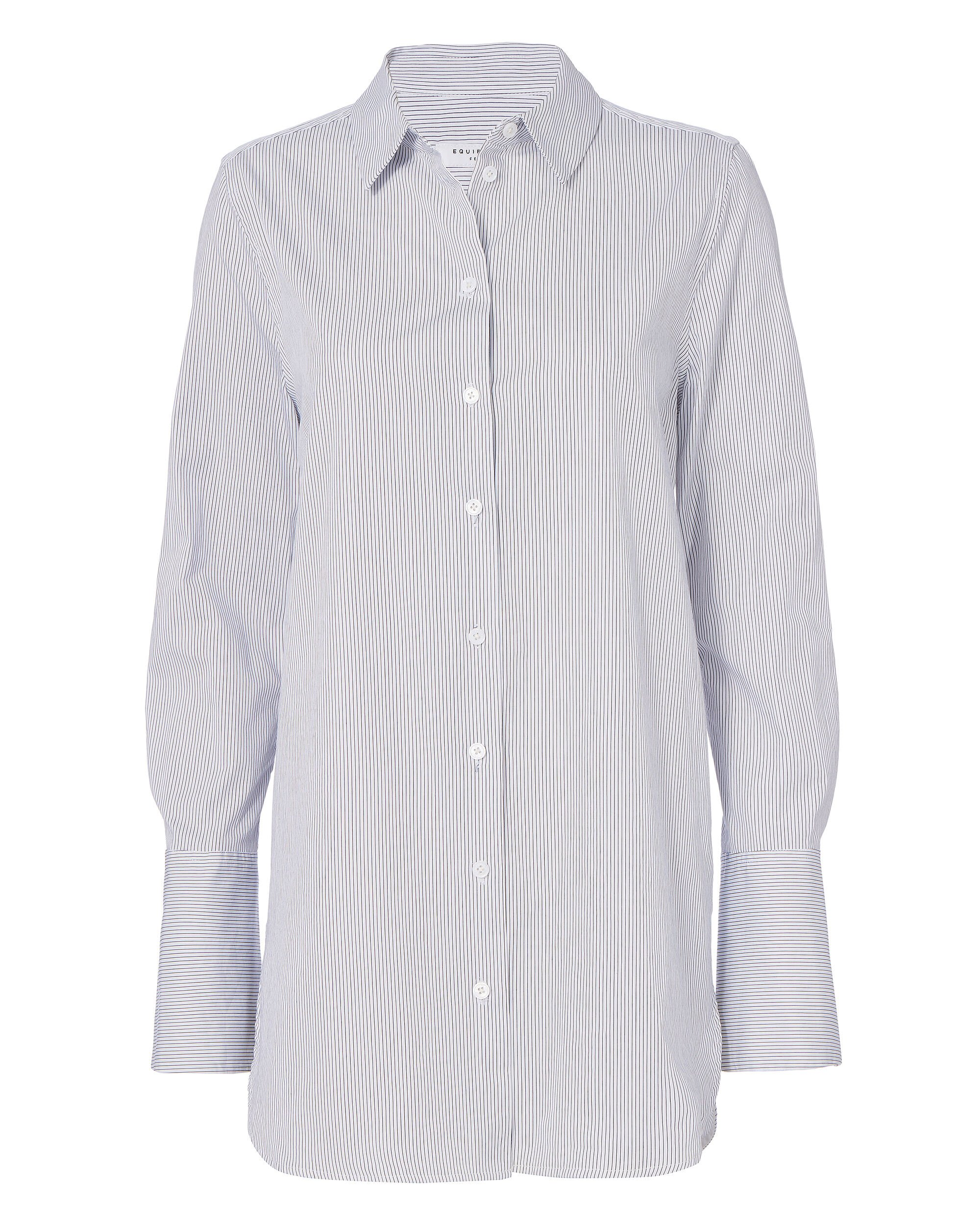 Arlette Striped Button-Down Shirt, PATTERN, hi-res