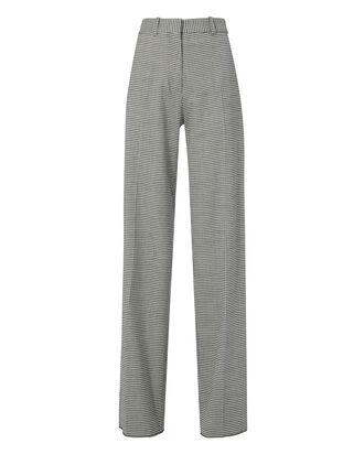 Fluid Check Wide Leg Trousers, BLK/WHT, hi-res