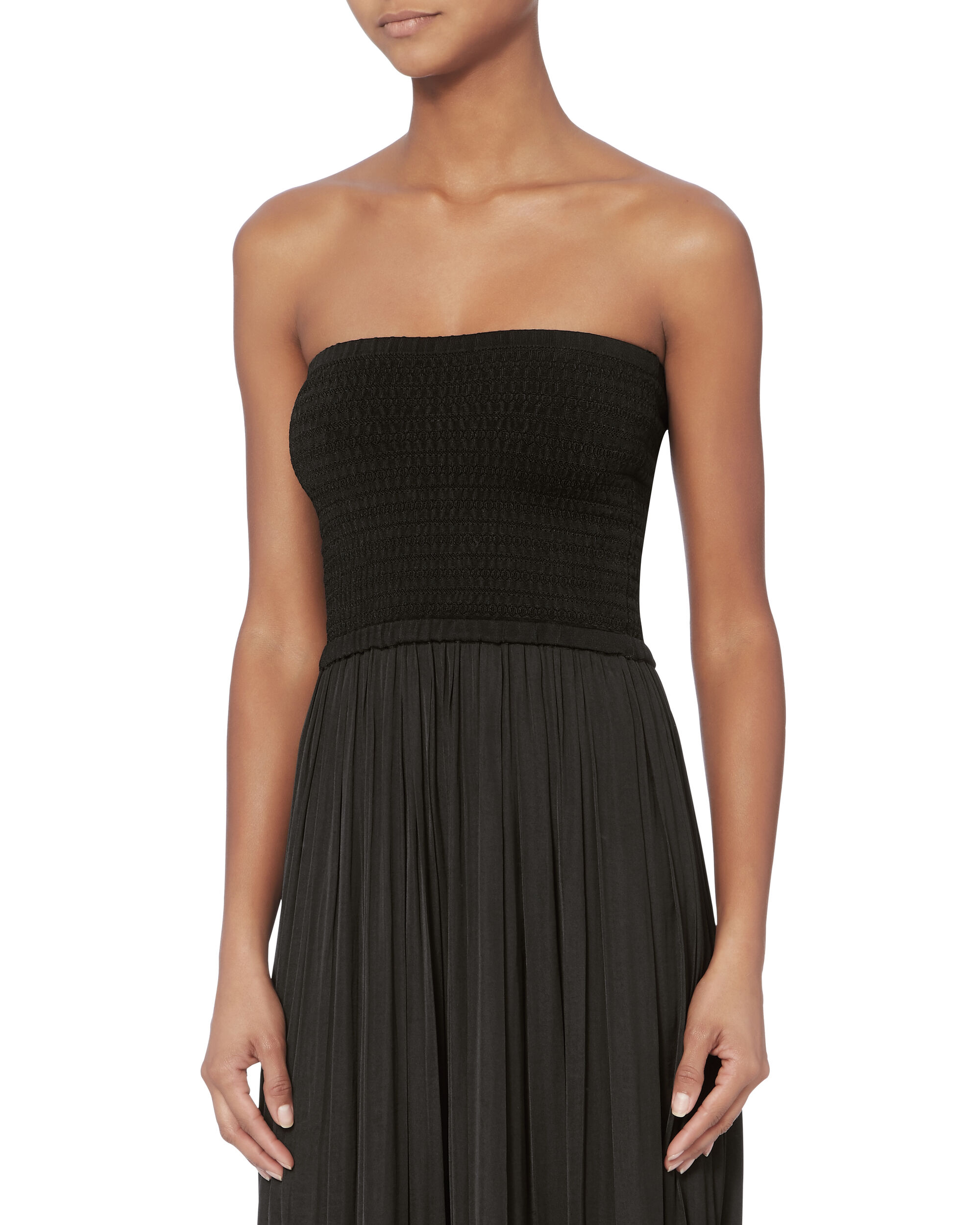 Emmaline Strapless Knit Combo Dress, BLACK, hi-res